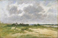 Outskirts of Etaple, 1891. Eugene Boudin