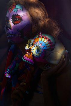 Sugar Skull make-up by Saara Sarvas