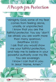 10 Bold Prayers for Anxiety & Fear | A Prayer for Protection | AlisonTiemeyer.com