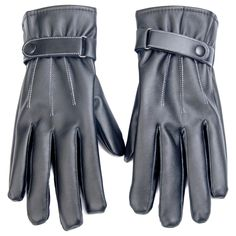 $14.98 These stylish faux leather gloves   They are available in classic black.