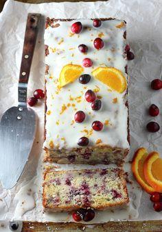 Cranberry-Orange Ricotta Pound Cake