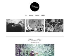 Premade Blogger Template  MUSE Pinterest Hover by LisasMenagerie, $35.00