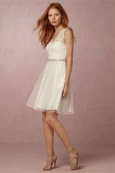 BHLDN Lina Dress in  Bridesmaids Bridesmaid Dresses Short at BHLDN