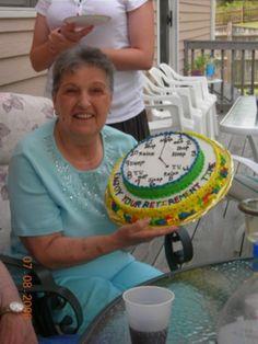 Retirement cake idea! Such a cool idea!