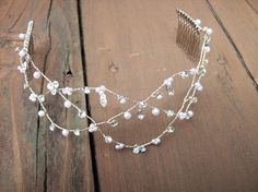 Sterling silver wire and rhinestone crown