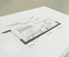 Presentatie tekening   Interieurontwerp Arnhem (de Laar)
