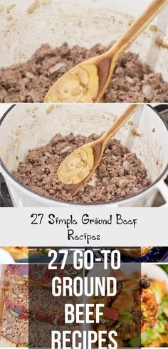 Sometimes the easiest things to cook are the tastiest, and these ground beef recipes are all simple, easy and budget friendly! Baked Meat Recipes, Mince Recipes, Classic Meatloaf Recipe, Ground Sirloin, Dinner With Ground Beef, Ground Beef Recipes Easy, Famous Recipe, Roasted Meat, Easy Cooking
