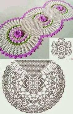caminho de mesa com grafico croche ile ilgili görsel sonucu