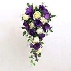 A Shower Bouquet of Purple and Ivory.