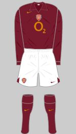 2005-2006 Arsenal Kit - The LAST year at Highbury!!!