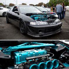 Uhmm Hello Blue And Black Engine Bay Hoonduh Integra