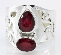 ROYAL RUBY GEMSTONE RING SOLID 925 STERLING  SILVER JEWELRY SIZE 8 IR14878 #Solitaire
