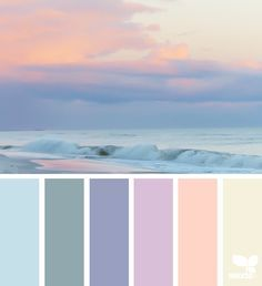 { early evening ocean sunset } image via: The post Color Set appeared first on Design Seeds. Palette Design, Color Schemes Design, Room Color Schemes, Design Color, Paint Color Palettes, Blue Colour Palette, Design Seeds, Pinturas Color Pastel, Wie Zeichnet Man Manga
