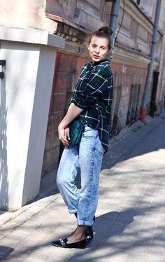 Zara Bag, Zara Flat Shoes, H&M Shirt