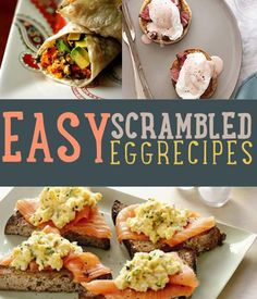 Easy Egg Recipes | Healthy Breakfast Ideas - Here Are Some Of The Best Scrambled Egg Recipes. From Classic Scrambled Eggs And Ketchup To The Best Darn Scrambled Omelette You've Ever Had. by DIY Ready at http://diyready.com/easy-egg-recipeshealthy-breakfast-ideas/