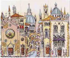 Venice Palazzo Triptych Michael Powell