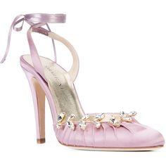 Sarah Flint Luisa pumps ($548) ❤ liked on Polyvore featuring shoes, pumps, sarah flint, leather shoes, genuine leather shoes, leather pumps and leather footwear