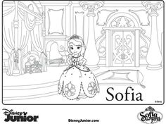 sophia the first birthday party | sofia the first birthday party activity sofia the first coloring pages ...