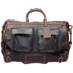 Leather Traveler Duffle - w/Strap