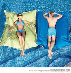 Pool pillows: enjoying summer like a boss…