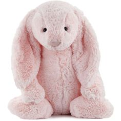 Jellycat Huge Bashful Bunny Stuffed Animal (115 BGN) ❤ liked on Polyvore featuring kids toys plush toys and pink