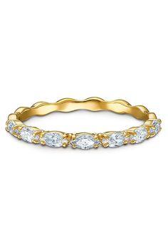 In diesem charmanten Ring vereinen sich feminines Charisma und moderner Stil zu einem fantastischen Accessoire. Marquise Ring, Swarovski Ring, White Stone, Modern, Plating, Feminine, Beaded Bracelets, Charmed, Yellow