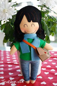 felt dolls - make one that looks like you child ?