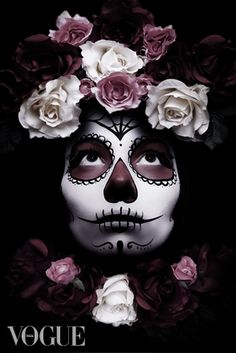 Sugar skull. Kevin McGonnell / Los Muertos Make up artist shoot celebrating the day of the dead festival. Vogue Italia