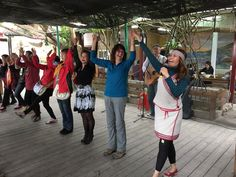 Dancing with aboriginal tribe
