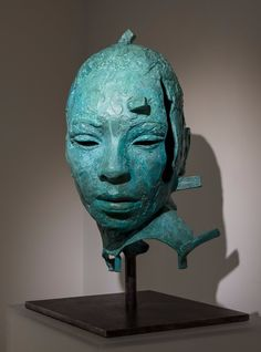 Arguably South Africa's best known artist opened his solo show 'Premise' at Circa gallery in the Waterfront last night. Lionel showed a range of new work, Paper Mache Head, Paper Mache Sculpture, Lion Sculpture, South Africa, Art Gallery, Range, Artists, Statue, Led