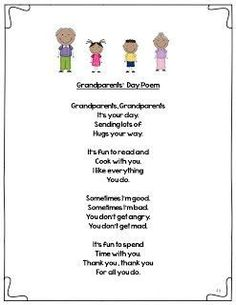 grandparents day poems for preschoolers - Google Search:
