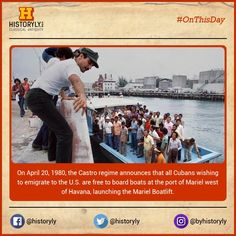 #OnThisDay 1980 Castro announces Mariel Boatlift #History #USA #Cuba #War