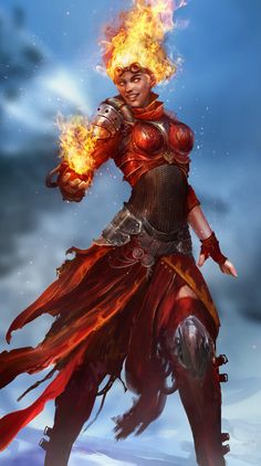 """Chandra Nalaar The Hothead"" by Daniel Kamarudin (theDURRRRIAN) 