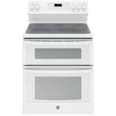 GE 6.6 cu. ft. Double Oven Electric Range with Self-Cleaning Convection Oven (Lower Oven Only) in White - JB860DJWW - The Home Depot