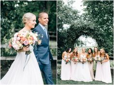 Blush, blue and gold wedding inspiration | Craven Farm Snohomish