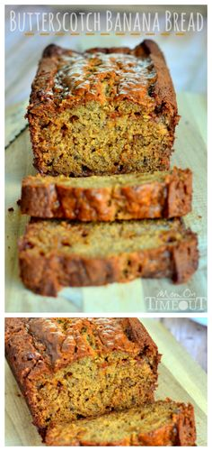 This Butterscotch Banana Bread is incredibly moist and delicious – definitely one recipe you NEED to try! | MomOnTimeout.com | #bread #breakfast #brunch #recipe
