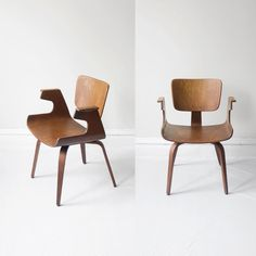 thonet 1950s mid century walnut bentwood sculptural arm chair. $499.99, via Etsy.  these are fantastic. opposite a desk?