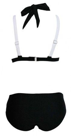 Cupshe Deep Water Halter Bikini