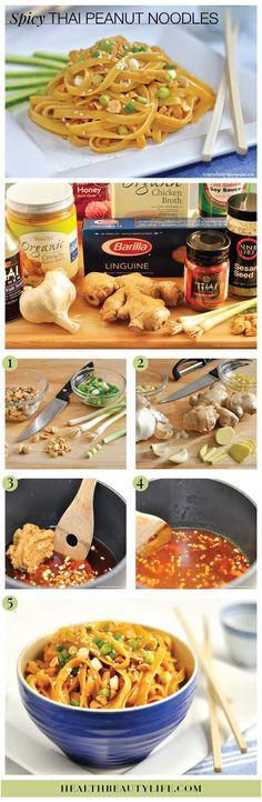 Oh yes: Spicy Thai Peanut Noodles Recipe // Via Health Beauty Life