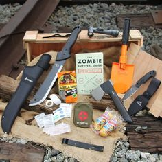 Zombie apocalypse survival crate. Great gift for a Walking Dead fan!
