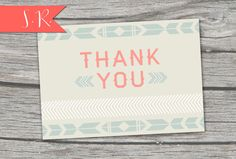 Aztec Thank You Card  Digital Download by SummerRaine on Etsy, $7.50