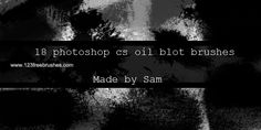Oil Blot - Download  Photoshop brush http://www.123freebrushes.com/oil-blot/ , Published in #GrungeSplatter. More Free Grunge & Splatter Brushes, http://www.123freebrushes.com/free-brushes/grunge-splatter/ | #123freebrushes