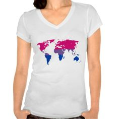 Bisexuality pride world map T-Shirt