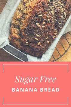 The good news is, this Banana Bread is deliciously delightful and has barely any bad stuff in it. Sugar Free Banana Bread, Cake Stall, Sugar Free Baking, Low Sugar, My Recipes, Biscuits, News, Healthy, Desserts
