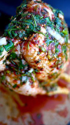 The Londoner: Beercan Jerk Chicken with Pineapple & Mango Salsa