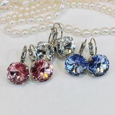 Swarovski Crystal Earrings Valentine's Gift for Woman 14mm