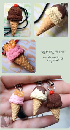 Polymer Clay Ice-Creams by ^Talty on deviantART