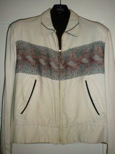 No label gabardine 50s jacket