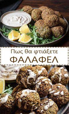 Τηγανητά ή στο φούρνο, τα φαλάφελ (οι ρεβυθοκεφτέδες της Μέσης Ανατολής) γίνονται υπέροχο ορεκτικό ή και κυρίως γεύμα. Δείτε όλα τα μυστικά για να τα πετυχαίνετε κάθε φορά. #φαλάφελ #ρεβίθια #ορεκτικό #σνακ #υγιεινά #νηστίσιμα #χωρίς-γλουτένη #ταχίνι-σος #ρεβιθοκεφτέδες #αραβικές-πίτες Baked Falafel, Falafel Recipe, A Food, Good Food, Yummy Food, Finger Food Appetizers, Appetizer Recipes, How To Make Falafel, New Recipes