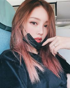 Korean Makeup, Korean Beauty, Asian Beauty, Asian Woman, Asian Girl, Korean Hair Color, Pony Makeup, Ulzzang Hair, Nailart